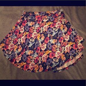 Floral Skater Skirt, Size XL